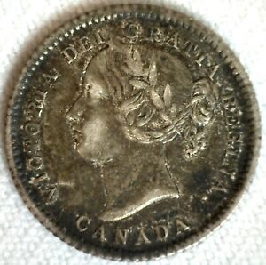 1874 H Canada Silver Dime 10c Canadian Coin Circulated You Grade Victoria Ruler