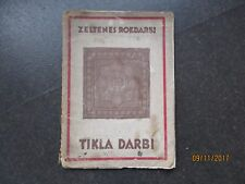 LATVIA 1934 CROCHET MANUAL PATTERNS , tikla darbi , O
