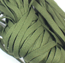 """New! 1 Pair Set Olive Drab Army Shoelaces Shoe Strings Lace Sneakers Flat 47"""""""