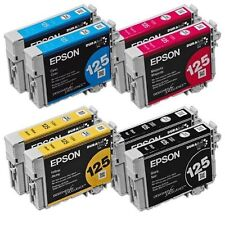 8p (2 sets) GENUINE Epson T125 125 BLK & COLOR Ink Stylus NX420 NX125 NX127