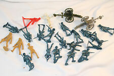 Marx and Others Military Play Set Pieces with Figures