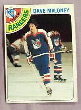 1978 - 1979 Topps Dave Maloney New York Rangers #221 Hockey CarD LOT OF 2 NM-MT