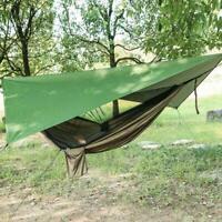 Hängematte mit Moskitonetz Regenplane Sonnenschutz Camping Zeltplane Y7T9