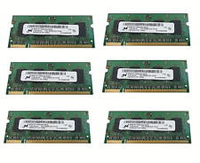 6 BANCHI RAM 1Gb Micron MT8HTF12864HDZ-667H1 1GB PC2-5300 DDR2-667 200 Pin