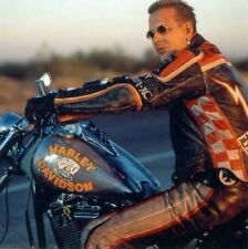 HDMM Mickey Rourke Marlboro Men's Biker Vintage Genuine Cow Hide Leather Jacket