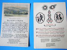 2 alteLiedpostkarten 1x Hammerschmiedlied + Grüß dich Gott mei Arzgebig