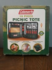 Coleman 16 Piece Picnic Tote  2 person setting  2003 Coleman Co New but opened