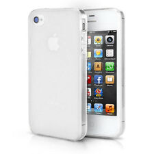 IPHONE 4 4S TPU Bumper Case Silicone Dust Case Cover Matt Transparent
