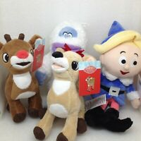Lof of 4 Rudolph the Red Nosed Reindeer Plush Toys Abominable Clarice Hermey