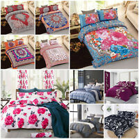 Bohemian Duvet Cover 3 Piece Bedding Set With Pillowcase Single Double King Size