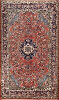 Vintage Floral Traditional Hand-knotted Area Rug RED Wool Oriental Carpet 7x9