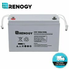 Renogy 100Ah 200Ah 12V Deep Cycle AGM Rechargeable Solar Battery Off Grid RV