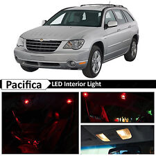 14x Red Interior LED Lights Package Kit for 2004-2008 Chrysler Pacifica