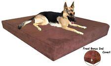 55''x37''x4'' Brown Microsuede Orthopedic Memory Foam Waterproof Dog Pad Bed XXL