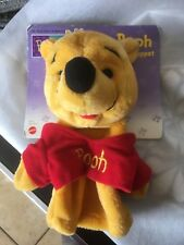 Winnie the Pooh hand puppet New with backer-board Mattel