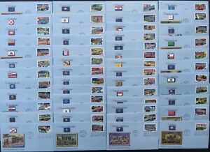 US FDC Lot of 50 2002 Greetings from America Fleetwood Complete Set