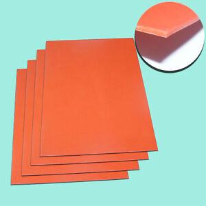 A4 2.3mm Orange Laser Rubber Sheet for Sealer Stamp Laser Engraving Printing!