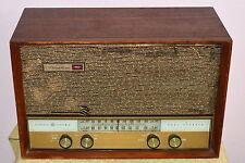 VINTAGE GENERAL ELECTRIC MUSAPHONIC TUBE RADIO DUAL SPEAKER RECEIVER