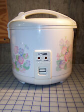 Tiger JNP-1800-FL 10-Cup (Uncooked) Rice Cooker and Warmer in Floral White Used