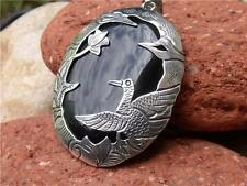BALINESE SILVER BLACK ONYX PENDANT SILVERANDSOUL HANDCRAFTED JEWELLERY