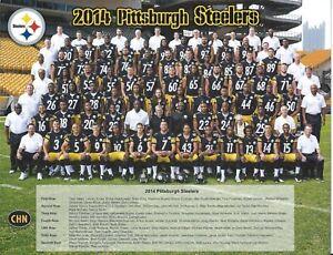 PITTSBURGH STEELERS 2014 SEASON 8X10 COLOR TEAM PHOTO W/2014 SEASON TM VIDEO DVD