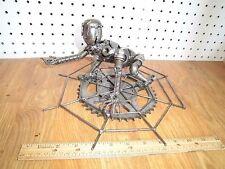 Spiderman - Hand Made Scrap Metal Sculpture Statue - Comic Superhero Art