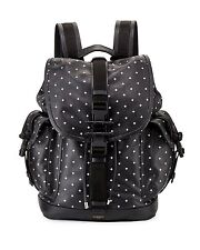 GIVENCHY Backpack Obsedia Black White Leather Cross-Print Drawstring Travel Bag