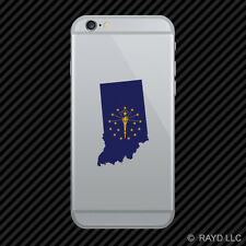 Indiana State Shaped Flag Cell Phone Sticker Mobile IN