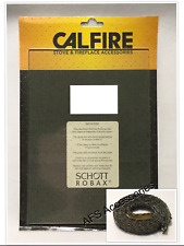 Calfire Replacement Stove Glass Dunsley DH5 SLIMLINE (432mm x 244mm) - with Tape
