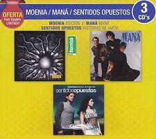 Moenia,Mana,Sentidos opuestos Adicion,Mana,Historias de Amor BOX SET 3CDS NEW