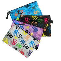 Astuccio Grande Borsello Mani Colorate Colore Zip Borsellino Plastica 24,5x16,5