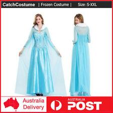 Women Adult Frozen Elsa Queen Cosplay Costume Halloween Fancy Dress Book Week