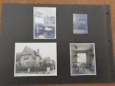 Foto 4x unbekanntes Haus in Berlin Lichterfelde 1933 Wohnung Einrichtung Möbel