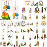 Parrot Hanging Swing Bird Toy Harness Cage Toys Parakeet Cockatiel Budgie Toys