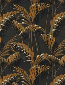 Sanderson Palm House Wallpaper Charcoal Gold 216641