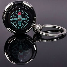 Survival Ruder Compass Pendant Keychain Outdoor Camping Hiking Key Ring Gift