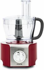 H.Koenig Procesador de Alimentos Potente, Profesional, 800 W, 1.5 L, Rojo MX18