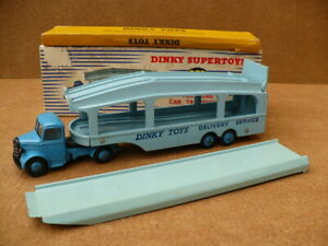 Dinky diecast no 982 PULLMORE CAR TRANSPORTER & No 794 LOADING RAMP excellent
