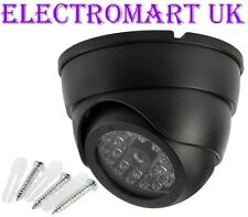 DUMMY DOME FAKE DECOY CCTV SECURITY CAMERA FLASHING LED