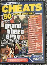 Playstation 2 PS2 - 50 Cheats GTA Grand Theft Auto San Andreas - Free UK PP