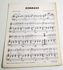 Partition vintage sheet music C. JEROME : Hommage * 1976 JP VINIT