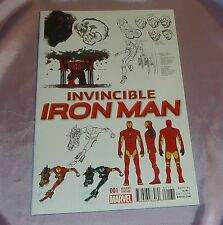 INVINCIBLE IRON MAN #1~1:25 DESIGN VARIANT EDITION~MARVEL/MOVIE~AVENGERS