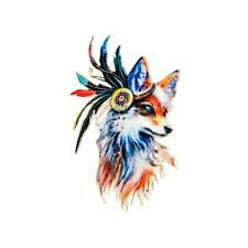 Embroidery Applique Patch Sew Iron Badge Colourful Wolf Velvet (Iron on)