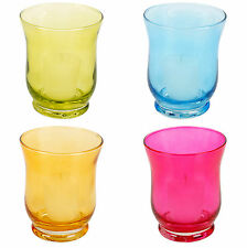 4 Grande Bicchiere Portacandele + CANDELA ARTI CASA Hurricane Centro Pezzo Matrimonio