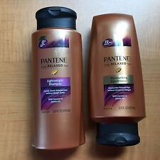 Pantene Relaxed Hair Lightweight Shampoo+ Moisturizing Conditioner BIG 22.8oz ea