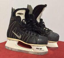 Nike Ignite 6 Hockey Skates Sz 7.5 D Tuuk Blades Black White Excellent Condition