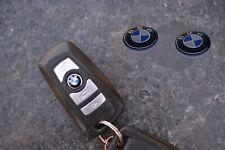 1 x BMW Schlüsselemblem ALU Sticker 11mm Logo geeignet für BMW