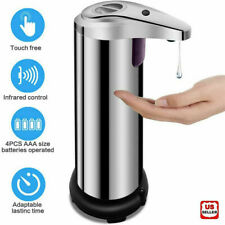 250ml Stainless Auto Handsfree Sensor Touchless Soap Dispenser Kitchen Bathroom