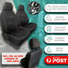 FOR DAIHATSU YRV BLACK FRONT CAR SEAT COVERS ALL OVER WATERPROOF JACQUARD!