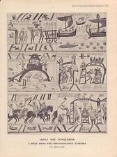 "1939 cartoon print "" adolf the conqueror ""  berchtesgaden tapestry"